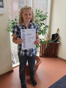 Wietske A basis diploma 14 juli 2011